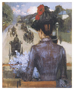 Carriages Painting Posters - The City Atlas Poster by Sidney Starr