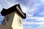 Styria Prints - The Clock tower in Graz Print by Michael Osterrieder
