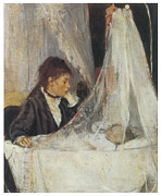 Morisot Painting Framed Prints - The Cradle Framed Print by Berthe Morisot