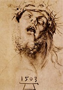 Religious Drawings Framed Prints - The Crown of Thorns Framed Print by Pg Reproductions