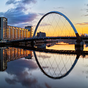 Glasgow Scene Prints - The Cyde Arc Squinty Bridge Print by John Farnan