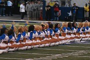 Cowboys Cheerleaders Posters - The Dallas Cowboys Cheerleaders Poster by Donna Wilson