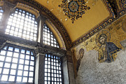 Aya Photos - The Deisis Mosaic Showing Jesus Christ Hagia Sophia by Robert Preston