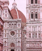 Allen Beatty Posters - The Duomo of Florence  Poster by Allen Beatty