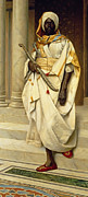 Floor Paintings - The Emir by Ludwig Deutsch