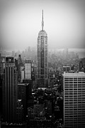 Fine American Art Posters - The Empire State Building in New York City Poster by Ilker Goksen