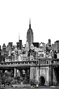 The New York New York Framed Prints - The Empire State Building Framed Print by John Farnan