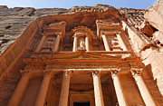 Treasury Posters - The facade of Al Khazneh in Petra Jordan Poster by Robert Preston