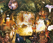 Banquet Digital Art Framed Prints - The Fairies Banquet Framed Print by John Anster Fitzgerald