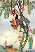 Fairies Posters - The Fairy Book Poster by Warwick Goble