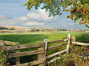 Fields Digital Art Prints - The Field Gate Print by James Shepherd