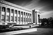 Plaque Metal Prints - The Field Museum in Chicago in Black and White Metal Print by Paul Velgos