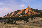 Rocky Mountain Foothills Posters - The Flatirons Poster by Aaron Spong