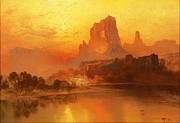 Thomas Moran - The Golden Hour by Thomas Moran