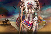 Tribes Framed Prints - The great one Framed Print by Angelika Drake