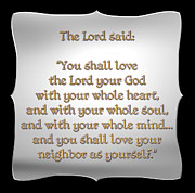 Souls Framed Prints - The Greatest Commandment Framed Print by Rose Santuci-Sofranko