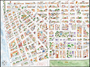Greenwich Village Paintings - The Greenwich Village Map by Lynn Lieberman