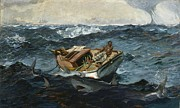 Winslow Framed Prints - The Gulf Stream Framed Print by Winslow Homer