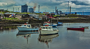 Redcar Framed Prints - The Harbour Framed Print by Trevor Kersley