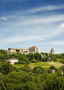 Hilltop Scenes Photos - The hilltop town of Gramont Tarn et Garonne France Europe by Jon Boyes