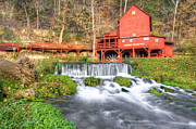 Old Mills Framed Prints - The Hodgson Water Mill - Missouri Framed Print by Gregory Ballos