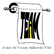 Ego Prints - The i in Team Print by Steve Harrington