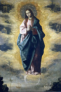 Floating Prints - The Immaculate Conception Print by Francisco de Zurbaran