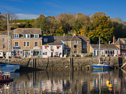 Fishing Village Posters - The Inner Harbour at Padstow Poster by Louise Heusinkveld
