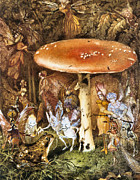 Toad Stool Posters - The Intruders Poster by John Anster Fitzgerald