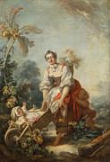 Famous Artists - The Joys of Motherhood by Jean-Honore Fragonard