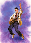 Elvis Presley Art - The King by Dick Bobnick