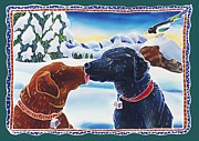 Dog Prints - The Kiss Print by Harriet Peck Taylor