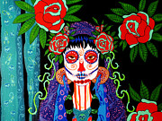 Mardi Gras Paintings - The Last Rose by Debbie Chamberlin
