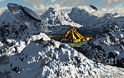 Snow-covered Landscape Digital Art Prints - The Legendary South American Golden Print by Mark Stevenson