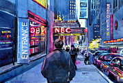 Spencer Meagher Metal Prints - The Lights Of The City Metal Print by Spencer Meagher