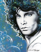 Jim Morrison Prints - The Lizard King Print by Alicia Hayes