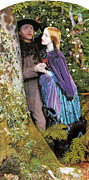 Couple In Love Paintings - The Long engagement by Arthur Hughes