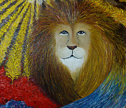 Lion Paintings - The Lord of the Harvest by Rachael Pragnell