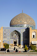 Allah Photos - The Lotfallah mosque at Isfahan in Iran by Robert Preston
