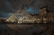 Paris Digital Art Prints - The Louvre Museum Print by Ayhan Altun