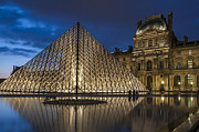 Louvre Museum Framed Prints - The Louvre Museum Pyramid Framed Print by Ayhan Altun