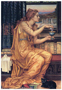 Love Making Painting Posters - The Love Potion Poster by Evelyn De Morgan