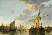 Aelbert Cuyp - The Maas at Dordrecht by Aelbert Cuyp