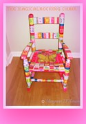 Children Sculptures - The Magical Rocking Chair Number 2 by Maryann  DAmico