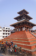 Kathmandu Framed Prints - The Maju Deval Temple in Durbar Square in Kathmandu Nepal Framed Print by Robert Preston