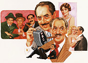 Groucho Marx Paintings - The Marx Brothers by Dick Bobnick