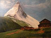 Switzerland Paintings - The Matterhorn by Judy Shoemaker