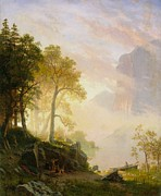 Famous Artists - The Merced River in Yosemite by Albert Bierstadt