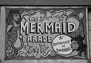 Mermaid Artwork Digital Art - THE MERMAID PARADE in BLACK AND WHITE by Rob Hans
