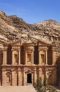 The Monastery At Petra In Jordan Print by Robert Preston